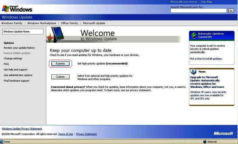 download update windows xp sp2 to sp3